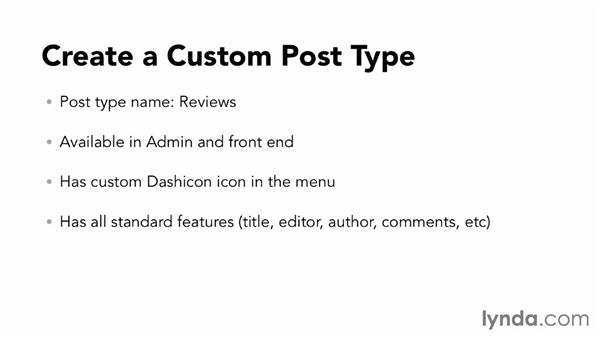Challenge: Create a custom post type for reviews: WordPress: Custom Post Types and Taxonomies