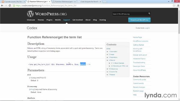Adding custom taxonomies to a template