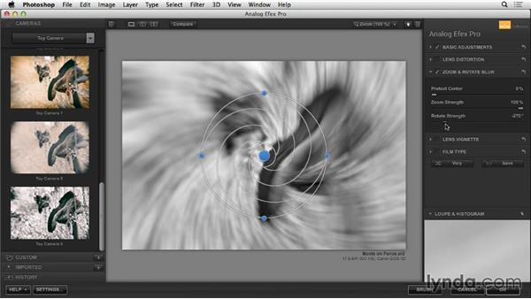 Zoom & Rotate Blur: Learning Analog Efex Pro