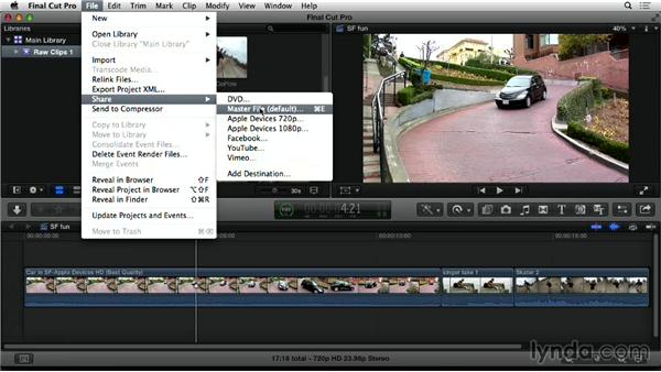 Send to Compressor from Final Cut Pro X: Compressor 4.1 Essential Training