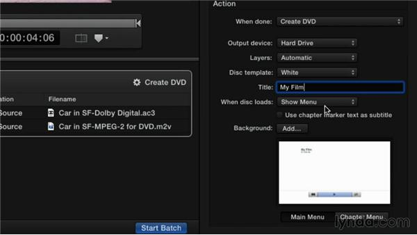 Customizing the DVD setting: Compressor 4.1 Essential Training