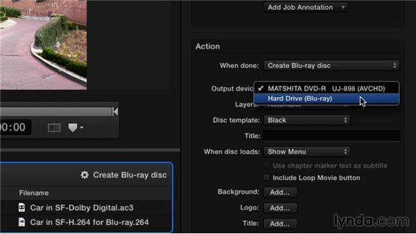 Building a Blu-ray or AVCHD disc: Compressor 4.1 Essential Training