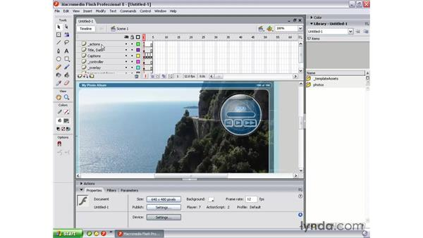 Using the built-in templates: Flash Professional 8 Essential Training
