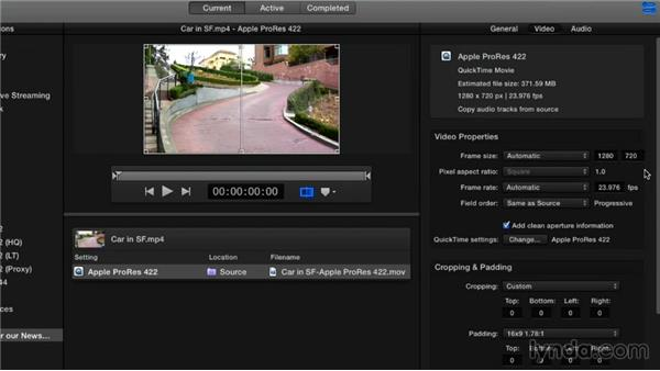 Doing an SD-to-HD upconversion: Compressor 4.1 Essential Training