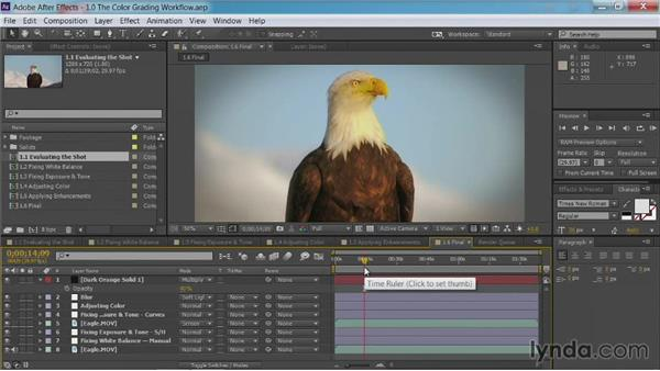 Evaluating the shot: After Effects Guru: Color Grading Footage