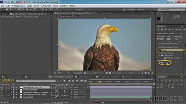 Fixing exposure and tone: After Effects Guru: Color Grading Footage