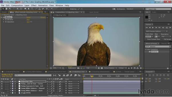 Adjusting color: After Effects Guru: Color Grading Footage