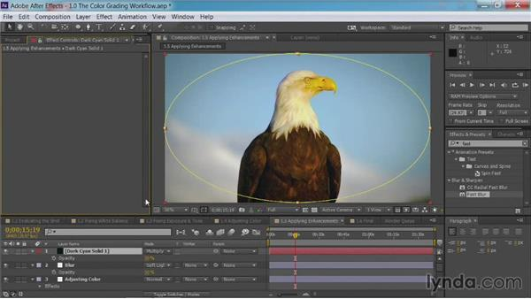 Applying enhancements: After Effects Guru: Color Grading Footage