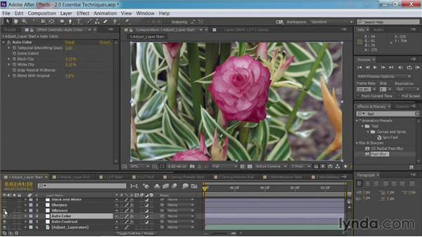 Using adjustment layers: After Effects Guru: Color Grading Footage