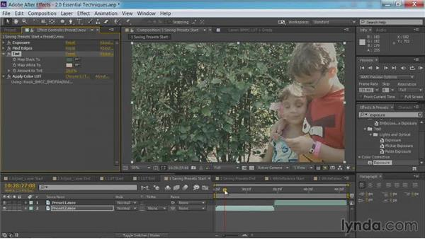Saving presets: After Effects Guru: Color Grading Footage