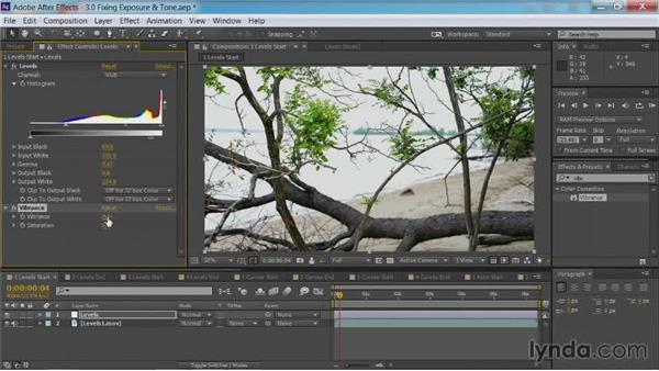 Fixing exposure with levels: After Effects Guru: Color Grading Footage