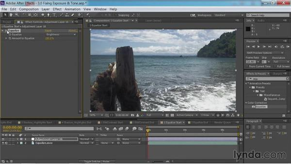 Using the Equalize command: After Effects Guru: Color Grading Footage