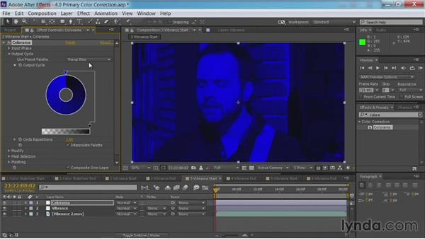 Adding vibrance: After Effects Guru: Color Grading Footage