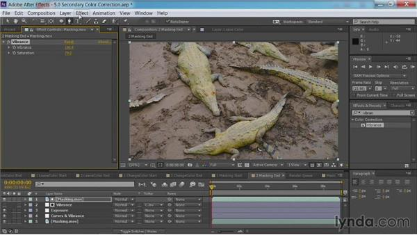 Adding masks and mattes to adjustment layers: After Effects Guru: Color Grading Footage