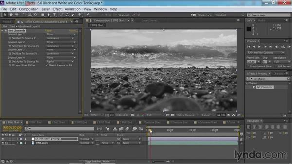 Black-and-white conversion: Method one: After Effects Guru: Color Grading Footage