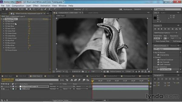 Black-and-white conversion: Method two: After Effects Guru: Color Grading Footage