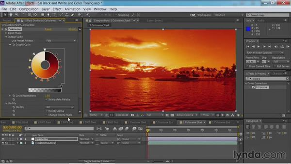 Enhancing with the Colorama effect: After Effects Guru: Color Grading Footage