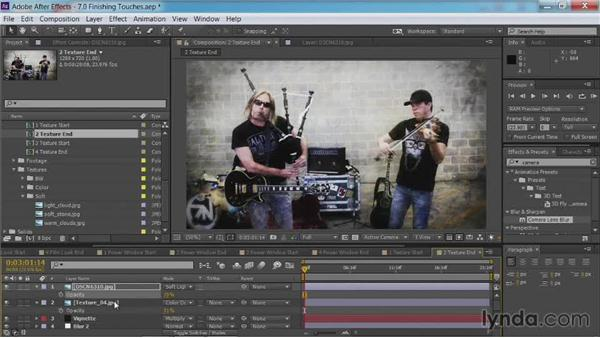 Adding texture: After Effects Guru: Color Grading Footage