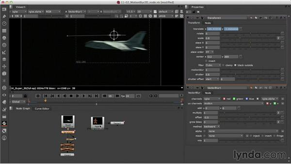 Creating 2D motion blur: Nuke Essential Training