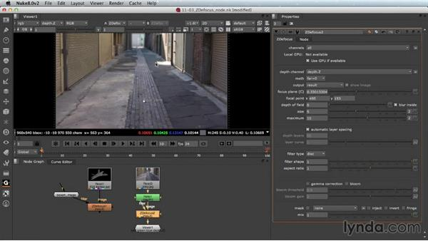 ZDefocus with live action: Nuke Essential Training