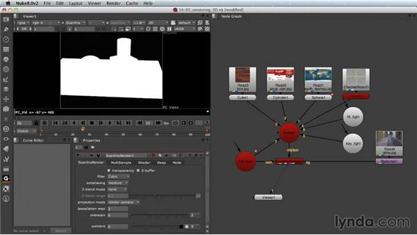Rendering a 3D scene: Nuke Essential Training