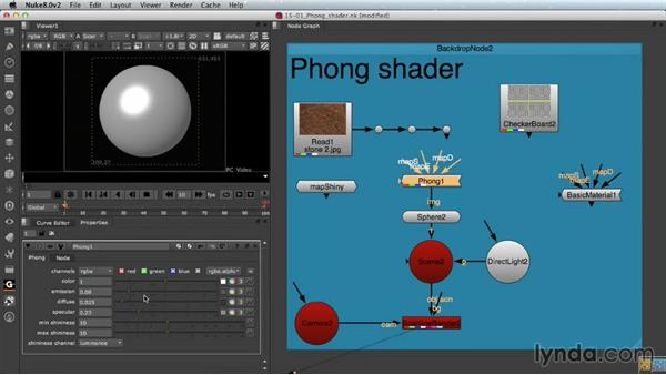 The Phong shader: Nuke Essential Training