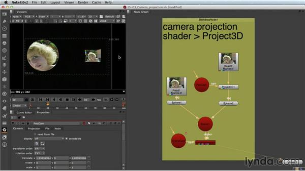 Camera projection: Nuke Essential Training