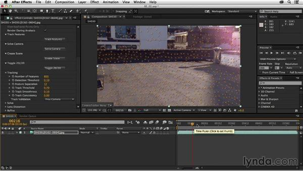 Using CameraTracker to track a shot: Creating a Show Open in After Effects and CINEMA 4D