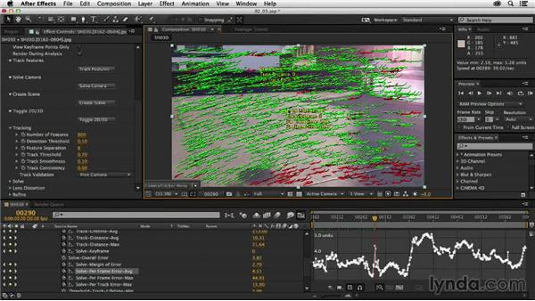 Solving camera data and refining the results: Creating a Show Open in After Effects and CINEMA 4D
