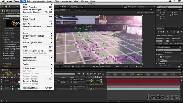 Exporting 3D camera data: Creating a Show Open in After Effects and CINEMA 4D