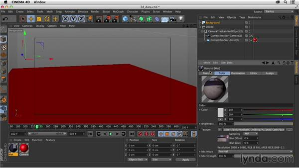 Importing 3D camera data into CINEMA 4D: Creating a Show Open in After Effects and CINEMA 4D