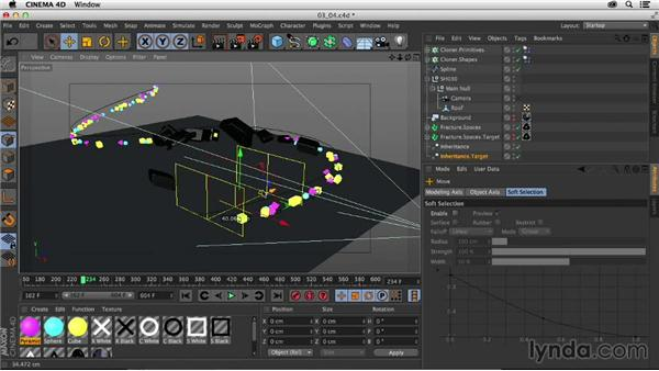 Animating the logo using the Inheritance effector: Creating a Show Open in After Effects and CINEMA 4D
