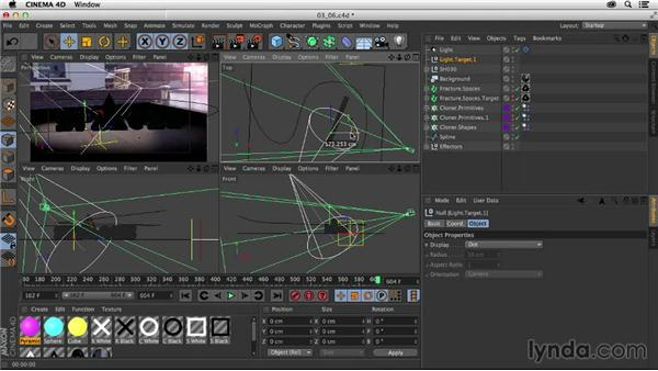 Lighting the scene: Creating a Show Open in After Effects and CINEMA 4D