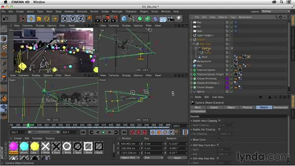 Setting object buffers and depth of field: Creating a Show Open in After Effects and CINEMA 4D