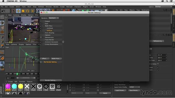 Render settings and exporting: Creating a Show Open in After Effects and CINEMA 4D