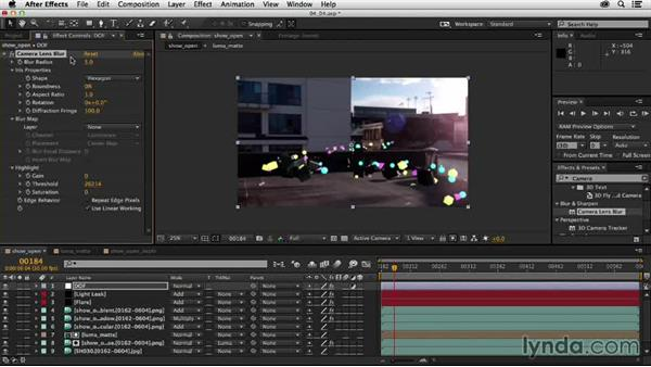 Adding depth of field to the scene: Creating a Show Open in After Effects and CINEMA 4D