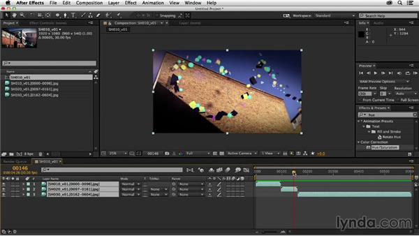 Importing the rest of the sequence: Creating a Show Open in After Effects and CINEMA 4D