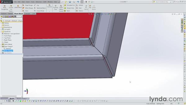 Making miter flanges: Sheet Metal with SOLIDWORKS: Enclosure Design Project