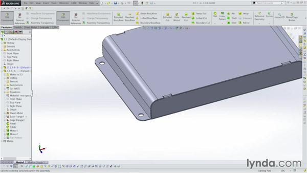 Creating the tabs and corners: Sheet Metal with SOLIDWORKS: Enclosure Design Project