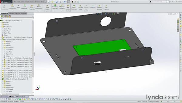 Placing the board in the enclosure: Sheet Metal with SOLIDWORKS: Enclosure Design Project
