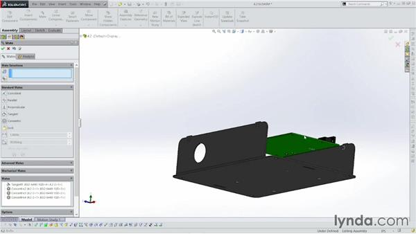 Adding standoffs and in-context holes: Sheet Metal with SOLIDWORKS: Enclosure Design Project