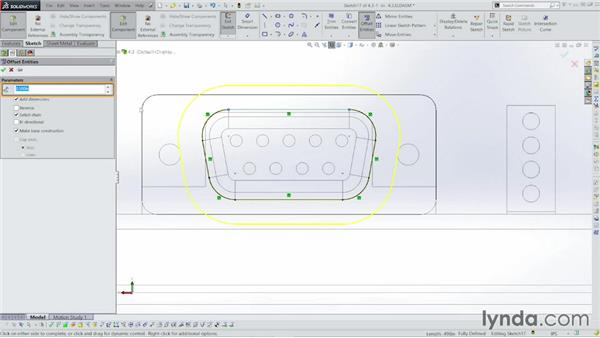 Cutting holes for the connectors: Sheet Metal with SOLIDWORKS: Enclosure Design Project