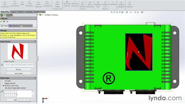 Adding decals to the design: Sheet Metal with SOLIDWORKS: Enclosure Design Project