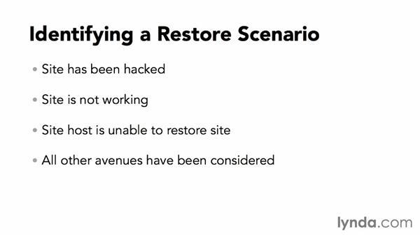 The proper restoration procedure: WordPress Plugins: Backing Up Your Site