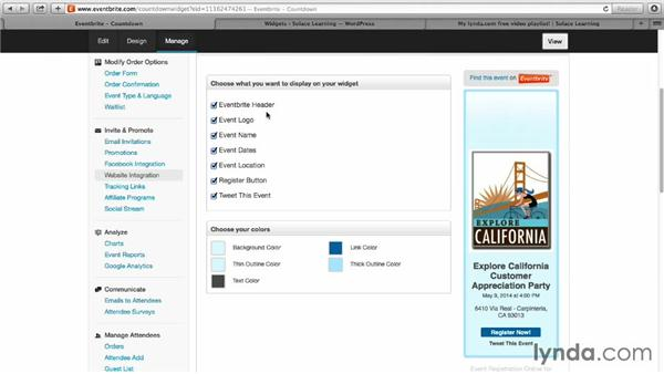 Creating custom buttons for your website: Up and Running with Eventbrite