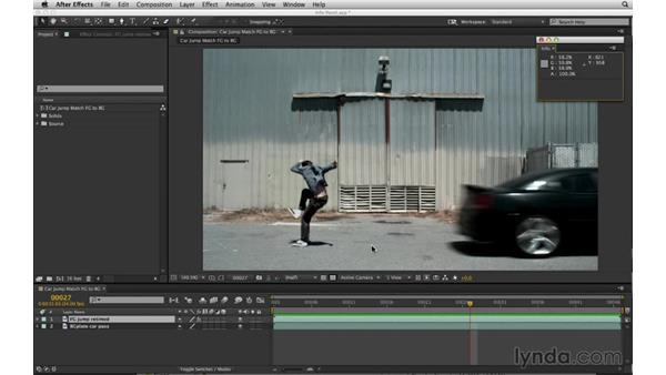 Toggle and float panels to optimize your workspace: After Effects Compositing 02: Matching Foreground to Background