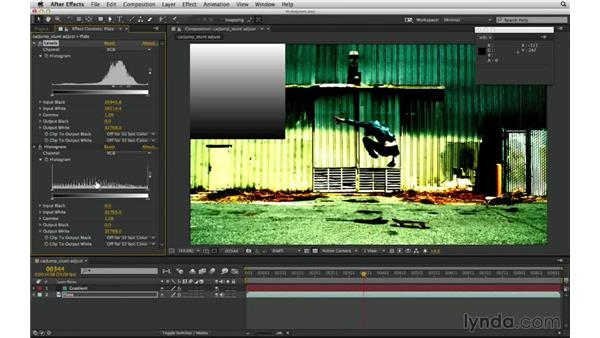 Use the histogram: After Effects Compositing 02: Matching Foreground to Background