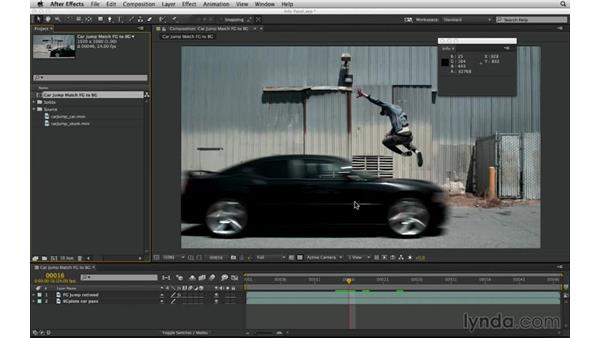 Incorporate the Info panel: After Effects Compositing 02: Matching Foreground to Background