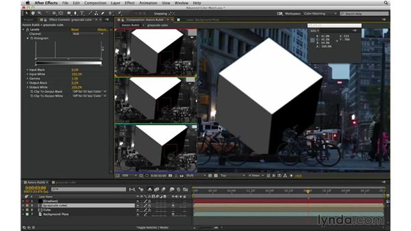 Match levels with proportions: After Effects Compositing 02: Matching Foreground to Background