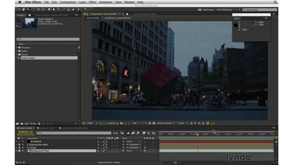 Slam to test the match: After Effects Compositing 02: Matching Foreground to Background